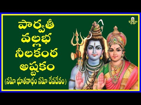 PARVATHI VALLABHA NEELAKANTA ASHTAKAM (పార్వతీ వల్లభ నీలకంఠ అష్టకం)