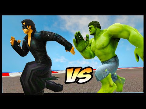 Krrish 4  Vs Hulk - Who is Faster || Speed Test In Hindi/Urdu