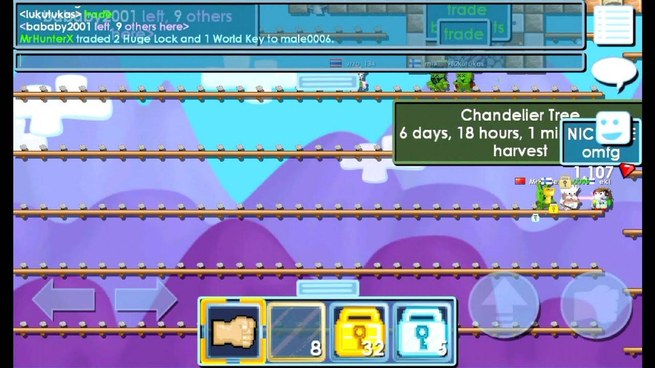 Growtopia   Buying Chandeliers! - YouTube