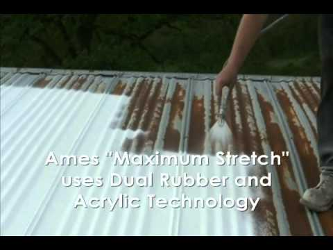 How to Waterproof a Metal Roof with Ames® Maximum-Stretch® Waterproof Coating