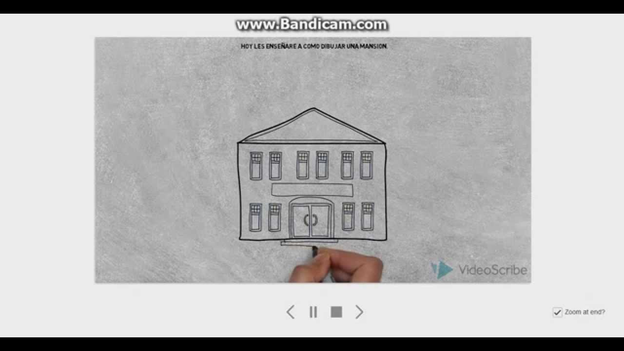 Como Dibujar Una Mansion Youtube