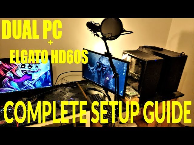 DUAL PC + CAPTURE CARD - streaming/recording - COMPLETE