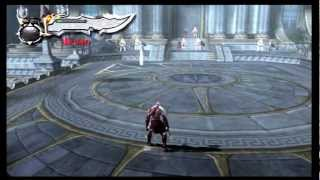 God of War 2 - First Boss Battle - The Giant Statue and Zeus