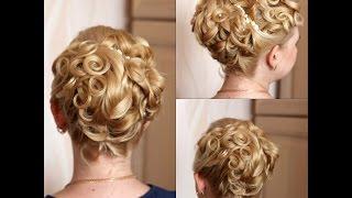 свадебная причёска в греческом стиле(, 2014-07-23T12:30:22.000Z)