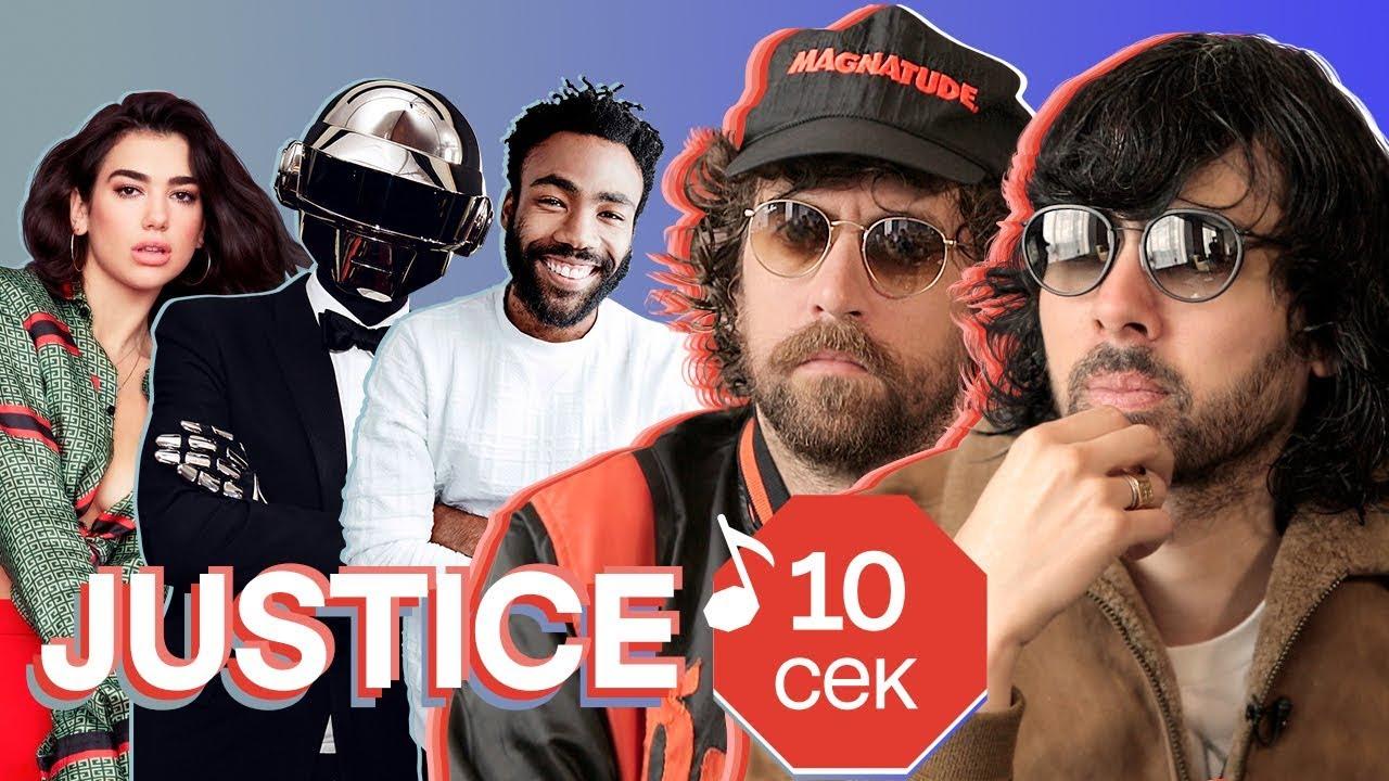 Узнать за 10 секунд   JUSTICE угадывают хиты Dua Lipa, Childish Gambino, Daft Punk и еще 32 трека