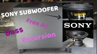 Sony SS WSB104 Subwoofer | Free Air , Bass & Excursion TEST