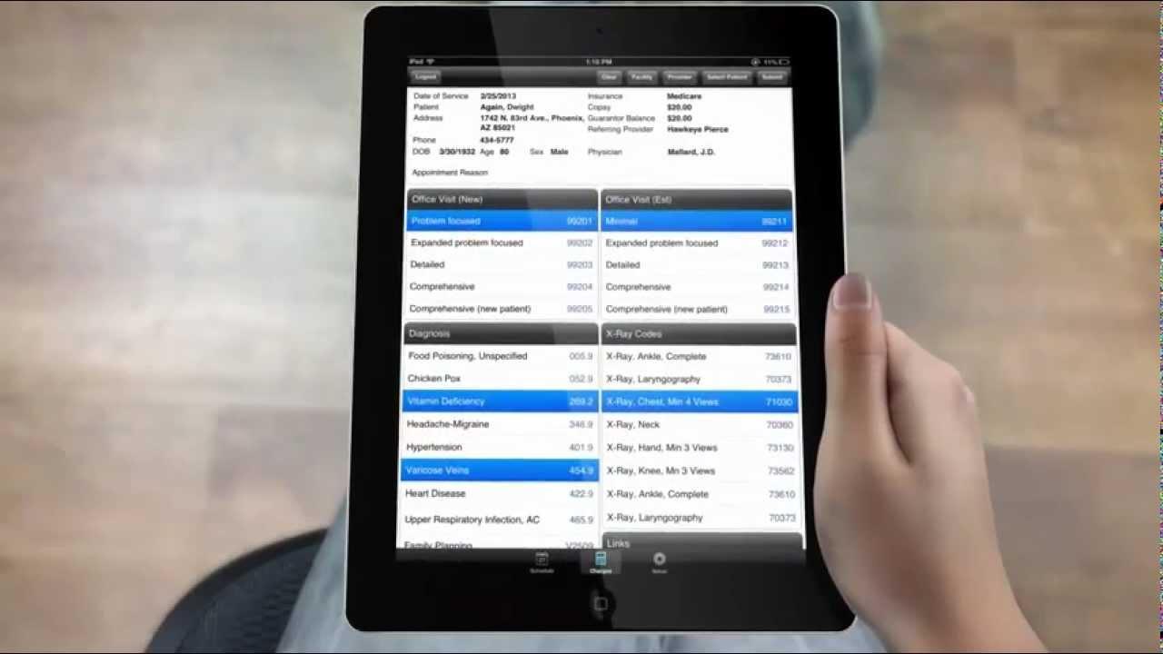 Medisoft Mobile App, Medisoft iPhone App ,A Medical ipad app designed for remote electronic billing