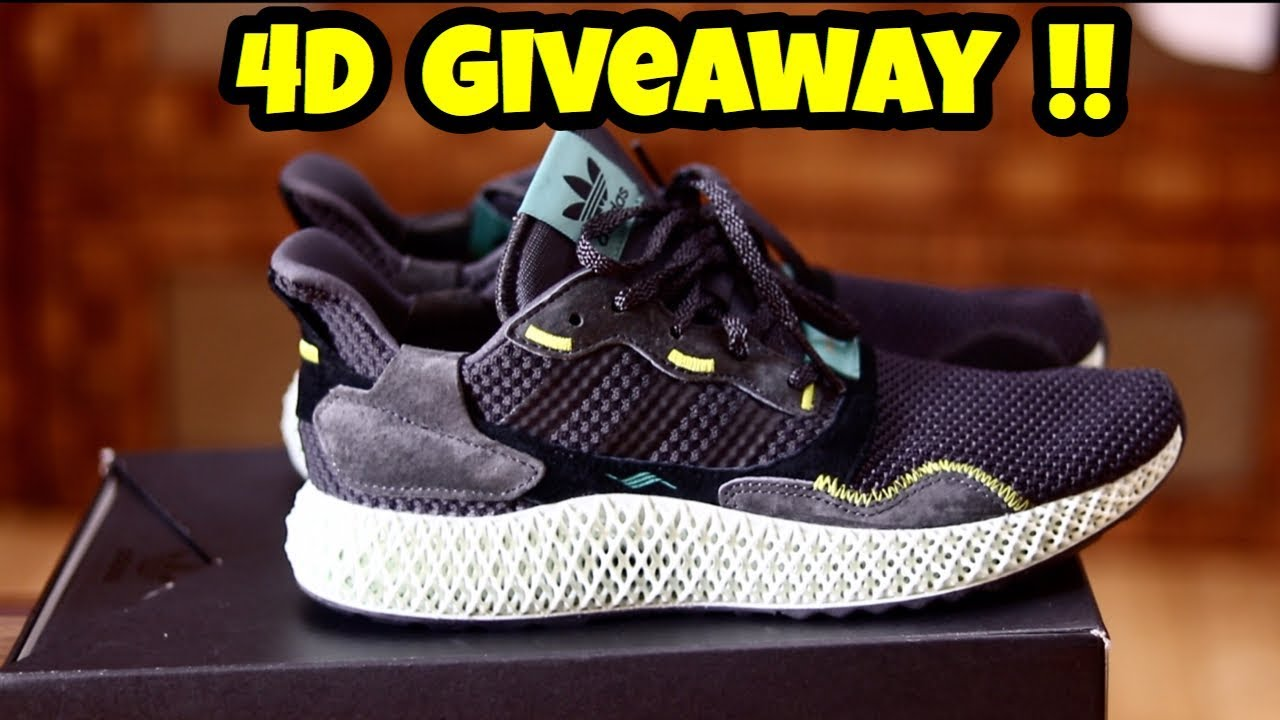 78f47552e Adidas Originals ZX 4000 4D GIVEAWAY !! + REVIEW + ON FEET - YouTube