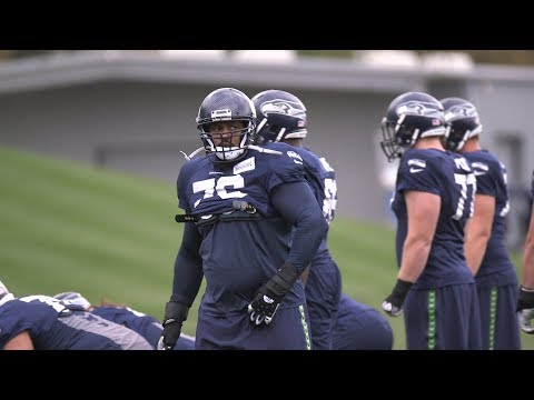Duane Brown Participates In First Practice With Seattle Seahawks