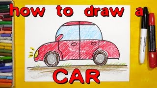 How to draw a red car