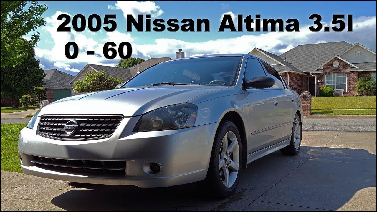 2005 nissan maxima 0 60