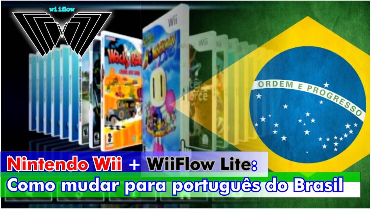 Nintendo Wii +WiiFlow Lite: Como mudar o idioma para português do Brasil