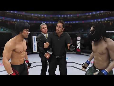 Bruce Lee vs. Bob Marley (EA Sports UFC 3) - CPU vs. CPU