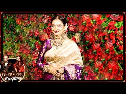 Rekha STUNNING Saree Look At Deepika Padukone And Ranveer Singh Mumbai Reception Party 2018