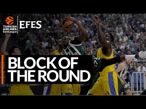 Efes Block of the Round: Stephane Lasme, Panathinaikos OPAP Athens