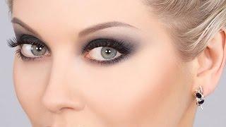 Гламурный макияж глаз с накладными ресницами