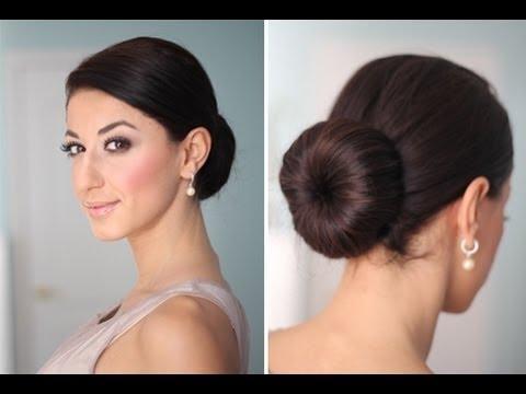 2-Minute Elegant BUN Hairstyle - YouTube  Elegant