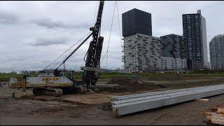 Woningbouw De Haven - 3 - Eerste palen Fregat geslagen / Spijkenisse 2017