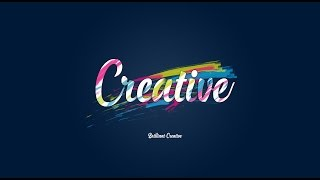 Tutorial Photoshop Typography rope text and Brush color