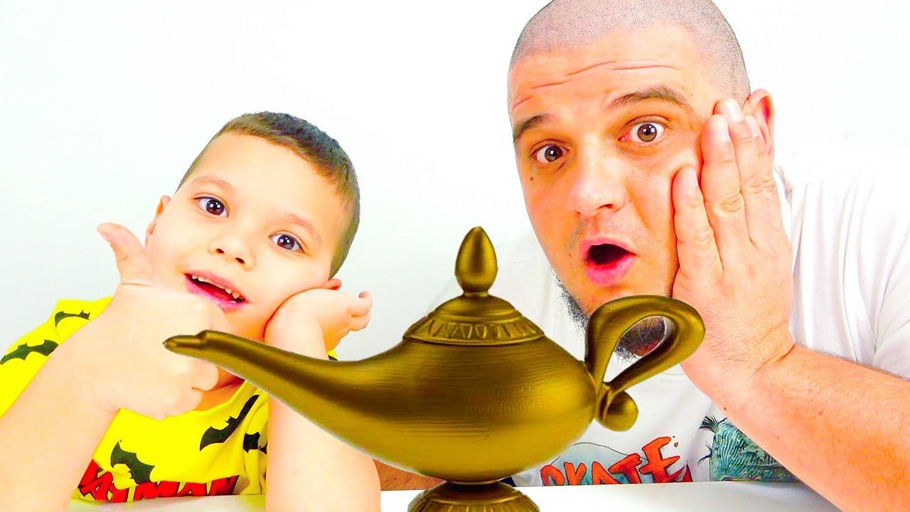Егорка с Папой ИГРАЮТ Челлендж ШОКОЛАД против НАСТОЯЩЕГО // Egor and Dad PLAY Challenge