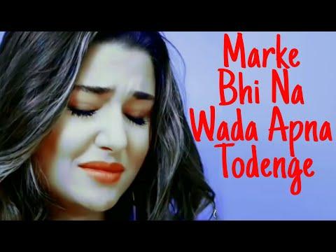 Marke Bhi Na Wada Apna Todenge | Tere Naam  | Hayat And Murat | Sad Song 😢😅😂