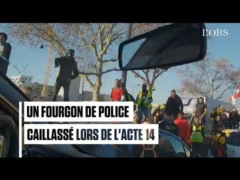 Les images de l'attaque du fourgon de police par des