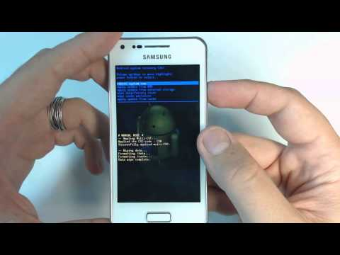 Samsung Galaxy S Advance I9070 - How to remove pattern lock by hard reset