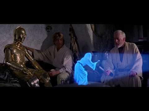 Princess Leia's hologram message.