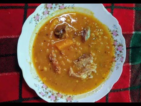 Potaje de chicharos con arroz blanco receta cubana comida - Comidas con arroz blanco ...