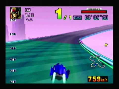 Captain Falcon and the deserted racetrack.