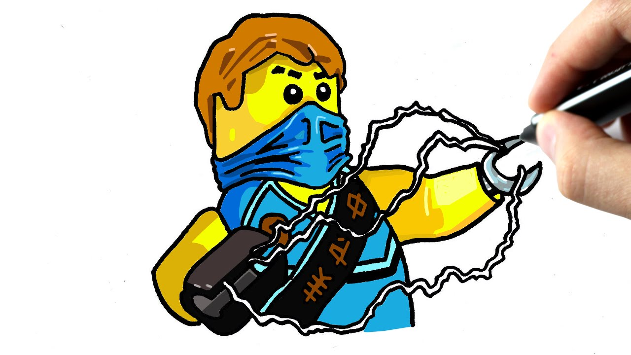 Chris Dessine Jay Tutoriel Lego Ninjago Chris Dessine