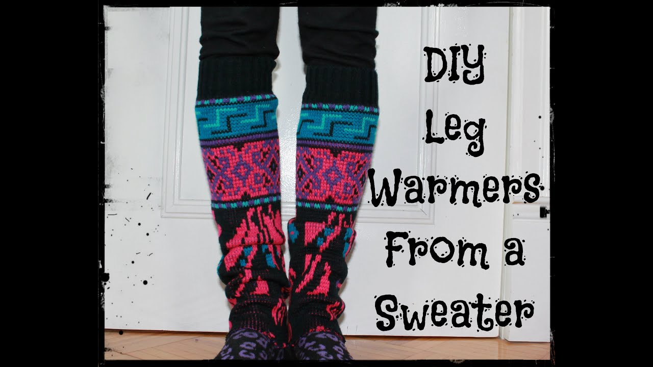 How To Make Leg Warmers From A Sweater Easy Diy No