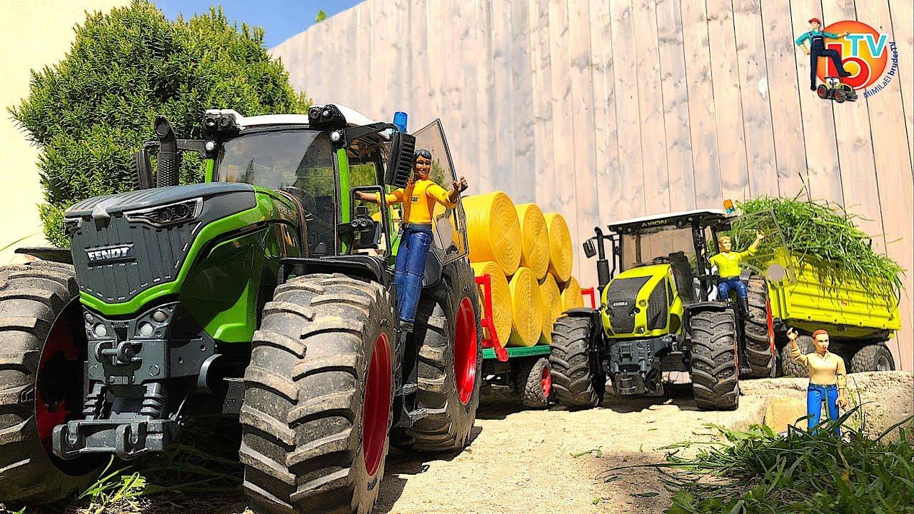 Rc Bruder Tractors Model Farm Fendt 1050 Vario Traktor Claas Axion 950