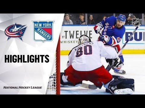 NHL Highlights   Blue Jackets @ Rangers 1/19/20