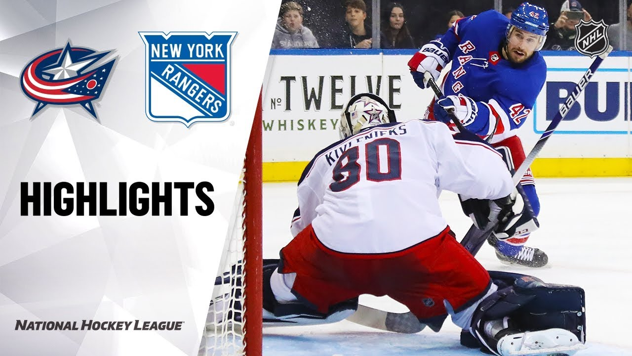 NHL Highlights | Blue Jackets @ Rangers 1/19/20