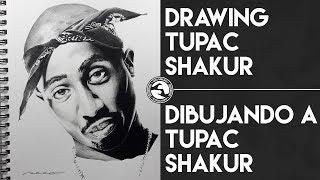 "Time Lapse: Dibujando a Tupac Shakur / Drawing Tupac Shakur  | Seco Sanchez ""Bless Hands"""