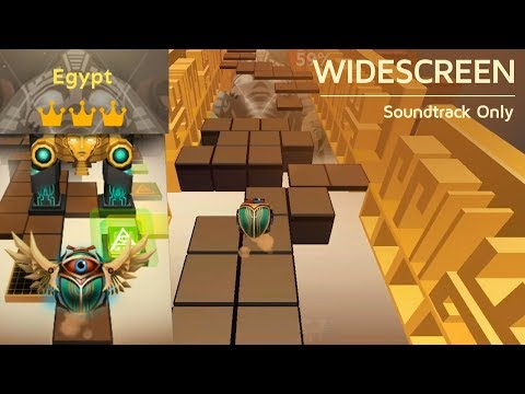 Rolling Sky Egypt (Widescreen) 100% Clear - All Gems & Crowns | SHA