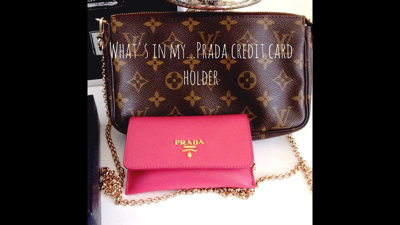0dbe974c25a3 What's in my Prada CC Holder - YouTube