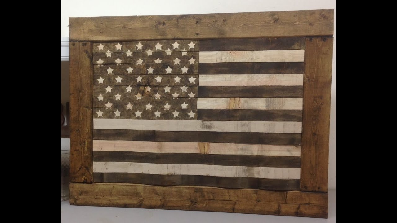 Diy Rustic Pallet Wood American Flag Usa Youtube