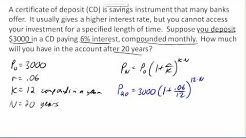 Compound interest CD example