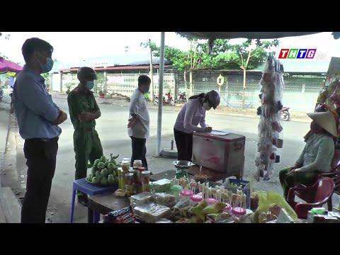 Tân Phú Đông kiểm tra các hộ tiểu thương kinh doanh trên địa bàn huyện