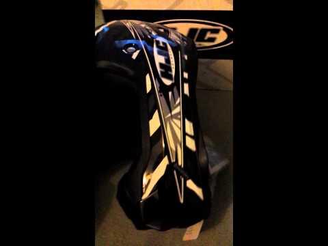 HJC motocross helmet unboxing.