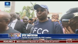 EFCC Invitation: Fayose Accompanied By PDP Leaders