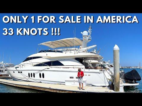 $1,549,000 2007 FAIRLINE SQUADRON 74 Yacht Tour / 3300 HP \u0026 33 Knots