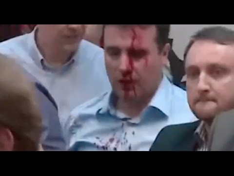 Protesters Beat Macedonian Social Democrat Leader