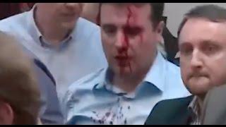 Protesters Beat Macedonian Social Democrat Leader