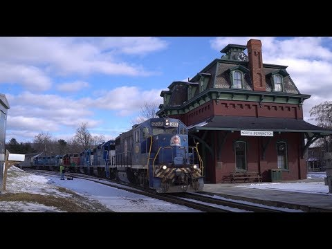 Vermont Railway's B&R Route. Chasing B&R From Rutland To North Bennington!