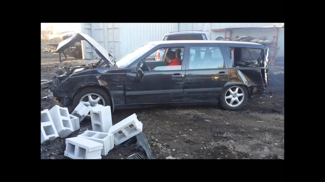 Beating a Volvo and blowing it up - YouTube