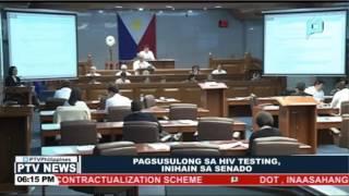 Pagsusulong sa HIV Testing, inihain sa Senado