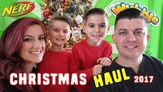 CHRISTMAS HAUL 2017 plus EPIC NERF WAR!!!